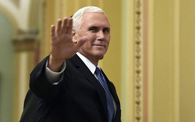 Image result for US VP Pence visits Western Hall, to meet Israeli leaders
