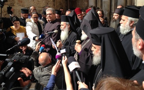 protest church of holy sepulchre