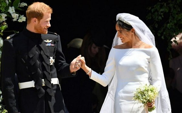 Prince Harry, Meghan Markle wed in Windsor as millions ...