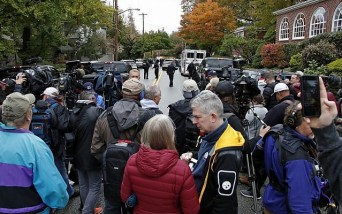 Image result for Pittsburgh residents in shock after gunman shot, kill 11 persons during circumcision ceremony