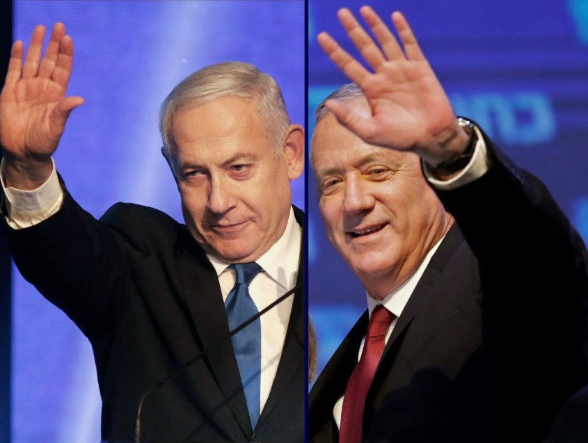 This combination picture created on September 18, 2019 shows, Benny Gantz (R), leader of the Blue and White political alliance, waving to supporters in Tel Aviv early on September 18, 2019,…</a></header> </div><!-- .entry-summary -->   <header class=
