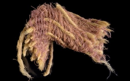 Scraps of Rare Ancient Fabric With Biblical Royal Purple Dye from Time of King David Are Found in Israel