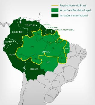 Resultado de imagem para amazônia países