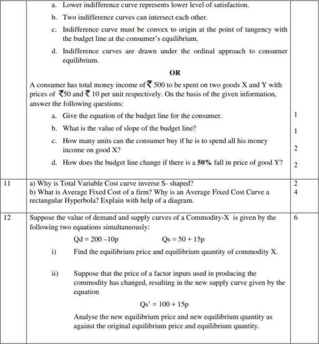 Economics Essay Questions And Answers Grade 12