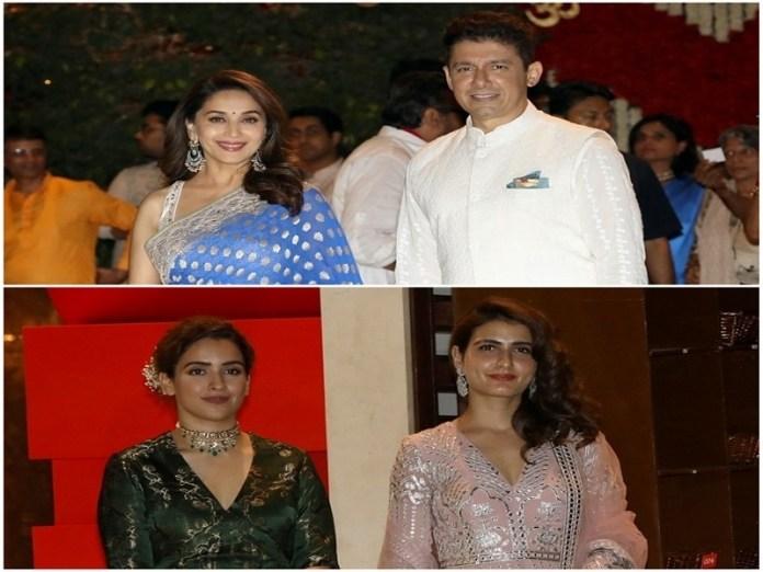 Photo Source: Yogen Shah  From Shah Rukh Khan to Salman Khan and CM Devendra Fadnavis to Sachin Tendulkar, celebs join Nita Ambani and Mukesh Ambani's Ganeshotsav Master