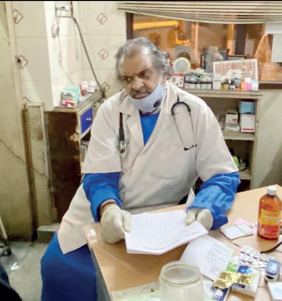 Dr. Venkatesh in his clinic