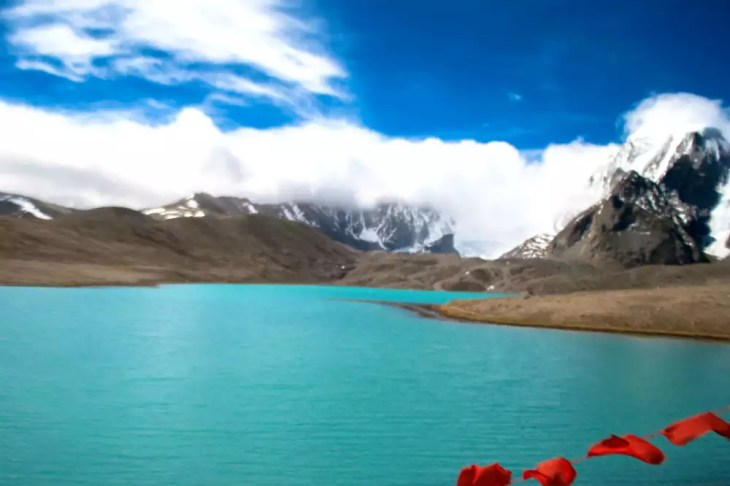Gurudongmar lake in North Sikkim