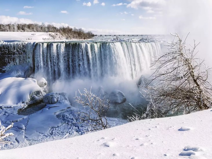 Niagara Falls freezes and this is how it looks!