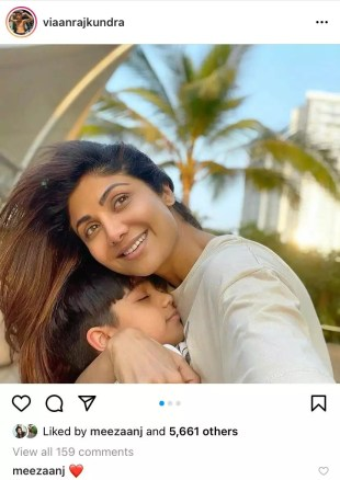 Shilpa Shetty's son Viaan shares happy photos with Raj Kundra amid his arrest in the pornography case;  Tiger Shroff and Meezaan Jafri react |  Indian Movie News