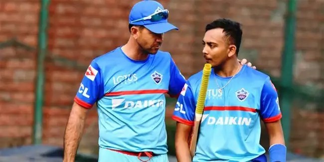 Prithvi Shaw: IPL 2021: Delhi Capitals head coach Ricky Ponting reveals his struggles with 'potential superstar' Prithvi Shaw's training methods | Cricket News - Times of India