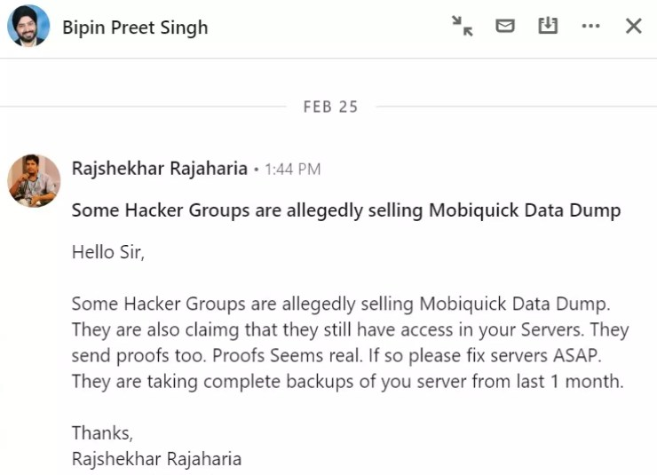 MobiKwik says no data breach even as users share 'evidence' on Twitter - Times of India