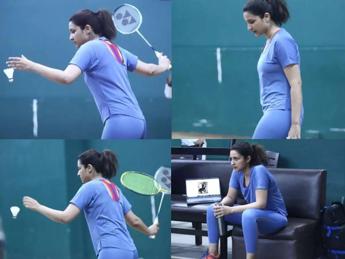 Photos: Parineeti Chopra works on her serves as she preps to shoot Saina  Nehwal biopic | Hindi Movie News - Times of India