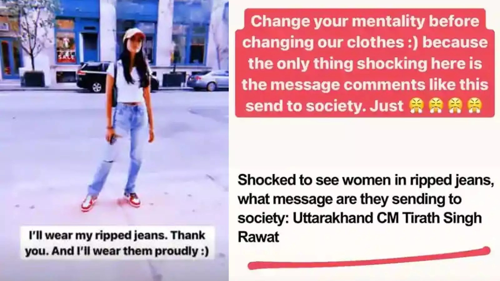 Amitabh Bachchan's granddaughter Navya Naveli Nanda reacts to Uttarakhand CM's  comment on ripped jeans: 'Change your mentality before changing our  clothes' | Hindi Movie News - Bollywood - Times of India