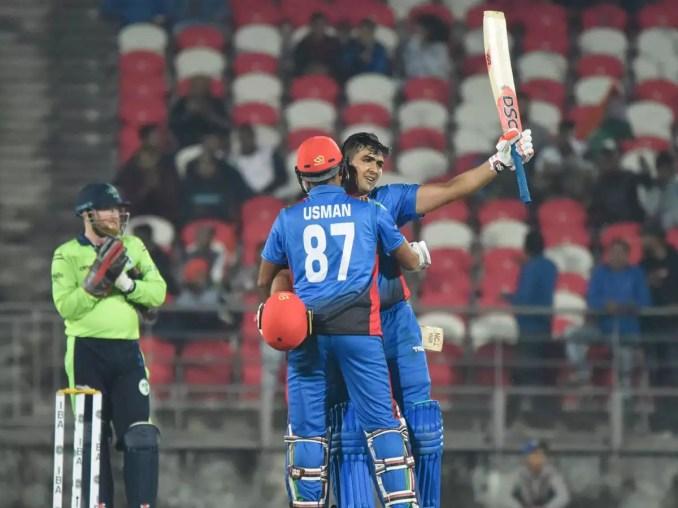 Afghanistan vs Ireland, 2nd T20I: Hazratullah Zazai, Usman Ghani go berserk  as Afghanistan smash T20I records   Cricket News - Times of India