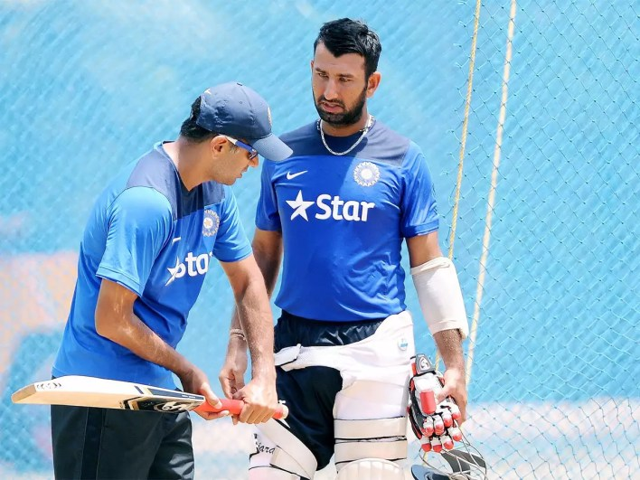 Rahul Dravid taught me importance of switching off from cricket: Cheteshwar  Pujara   Cricket News - Times of India