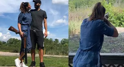 Nargis Fakhri learns 'how to shoot a shotgun' on her date with American chef Justin Santos, Ileana D'Cruz calls the couple 'cute' | Hindi Movie News - Bollywood - Times of India