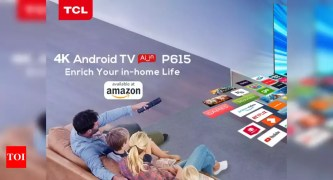 tcl 4k tv:  TCL expands its smart TV lineup with TVP615 Android TV, price starts at Rs 23,999 - Times of India