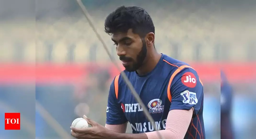 IPL 2021: Jasprit Bumrah joins Mumbai Indians squad, sweats it out in quarantine | Cricket News – Times of India