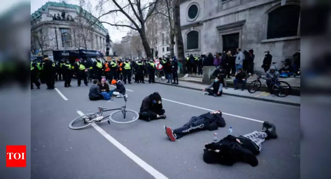 26 arrested in London as protesters clash with police – Times of India