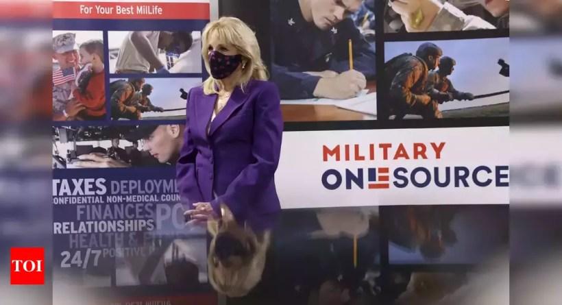 Jill Biden shines fresh spotlight on military family programme – Times of India