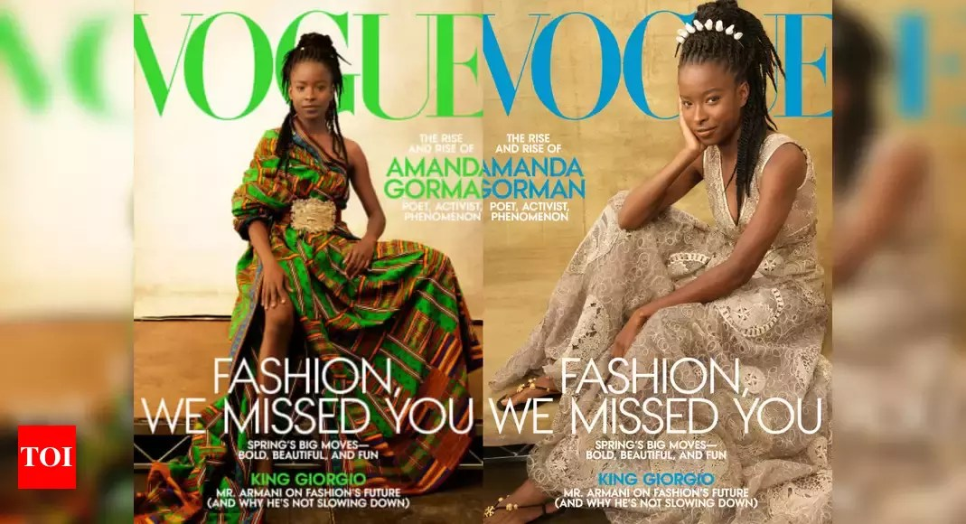 Amanda Gorman becomes first poet to feature on the cover of Vogue magazine – Times of India