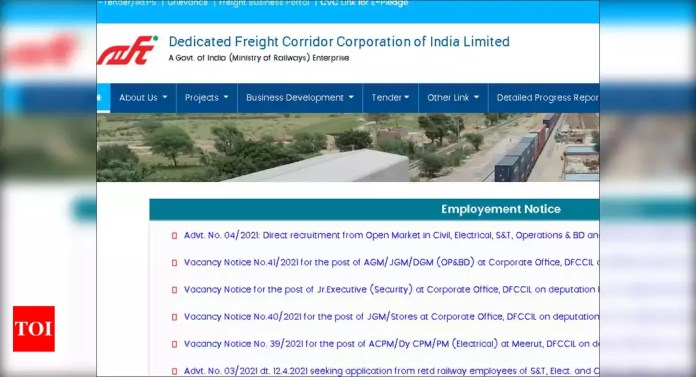 DFCCIL executive recruitment 2021: Apply online for 1074 Executive posts - Times of India   Latest News Live   Find the all top headlines, breaking news for free online April 24, 2021