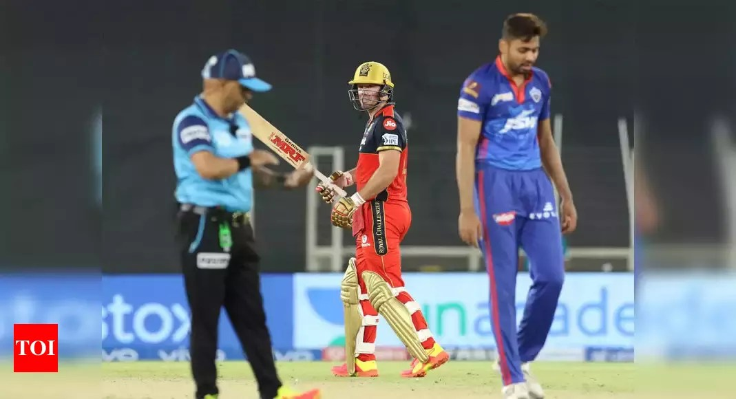 IPL 2021, DC vs RCB: AB de Villiers delivers again as Royal Challengers Bangalore pip Delhi Capitals by one run | Cricket News – Times of India