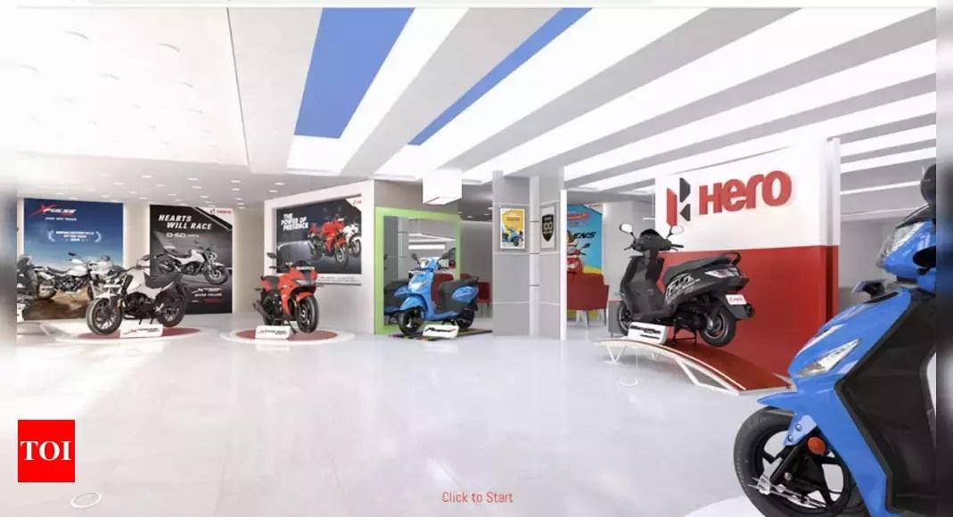 Hero Motocorp News: Hero MotoCorp strengthens digital presence with virtual showroom   – Times of India