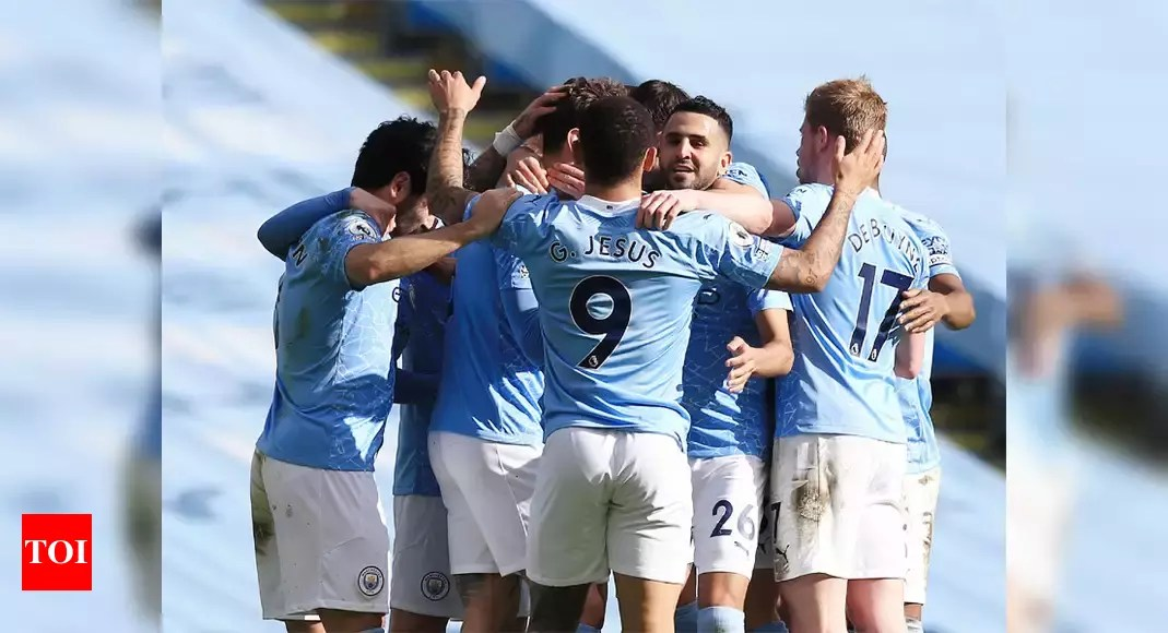 Manchester City crowned Premier League champions as Leicester win at Man United   Football News – Times of India