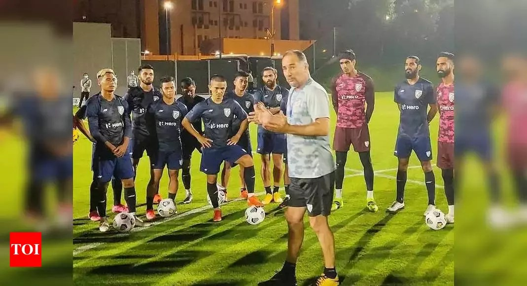 Indian football team begins training in Doha after all players test negative for COVID-19 | Football News – Times of India