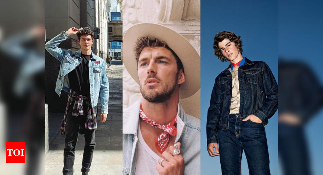5 leading male models show how to style denim jackets – Times of India