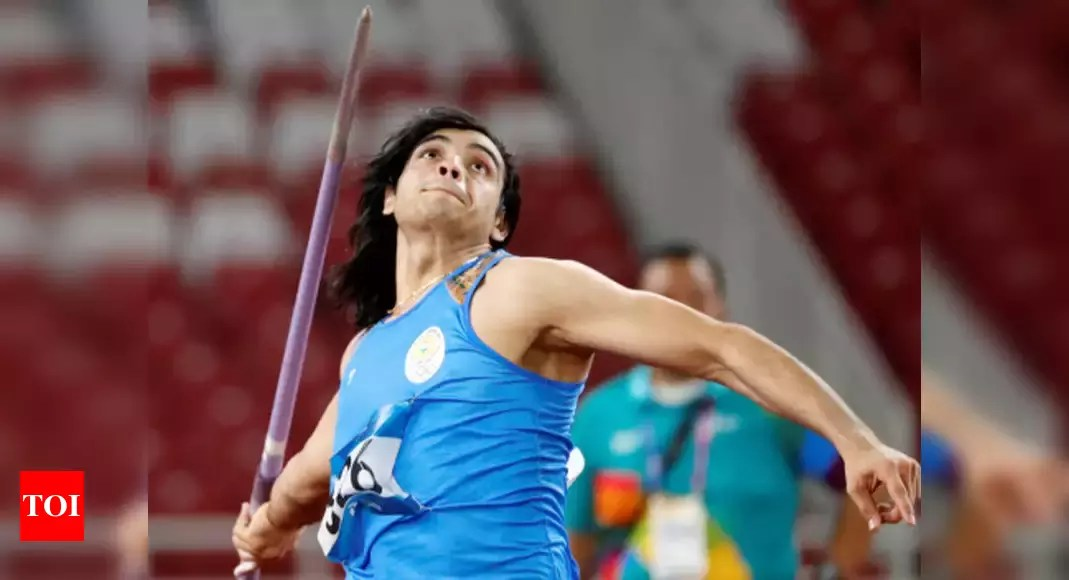 Neeraj Chopra throws 83.18m to clinch gold in Lisbon | More sports News – Times of India