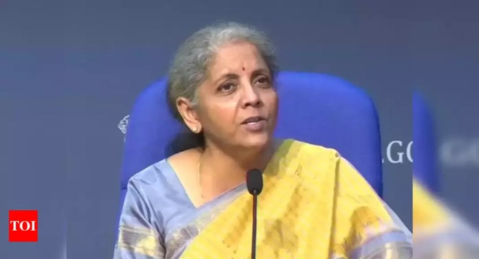 Nirmala Sitharaman asks various ministries to front load capex; explore PPPs for viable projects – Times of India -India News Cart