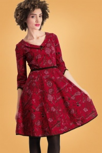 Rote Kleider     Blutsgeschwister So Long Lonely Roses Dress 102 27 26058 20180828 01