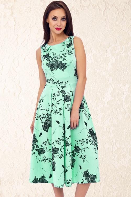 Floral Mint Green Dress