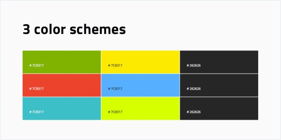 3 color schemes (and more are coming)