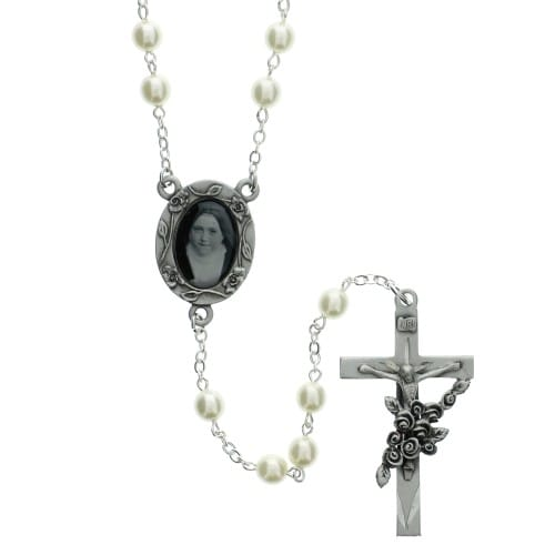 6MM Pearl St. Therese Rosary