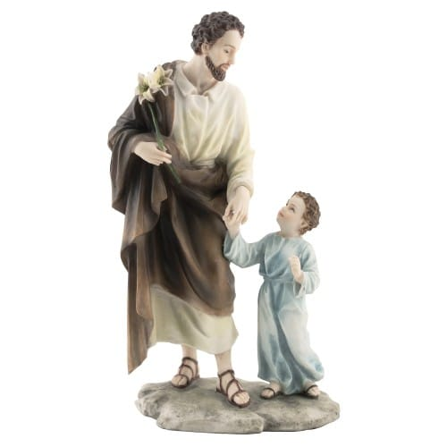 "St. Joseph w/ Child Jesus Veronese Statue - 8.25"""