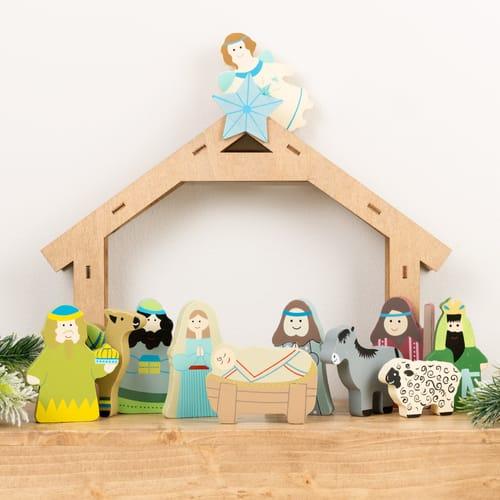 Children's Wooden Nativity Set - 11 Piece