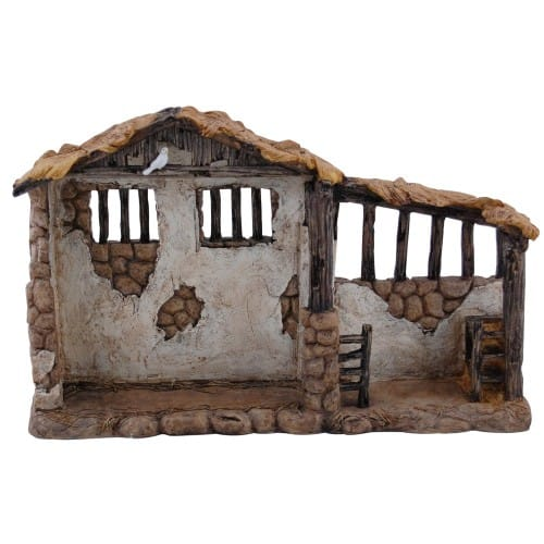 Real Life Nativity Set Lighted Stable - 7
