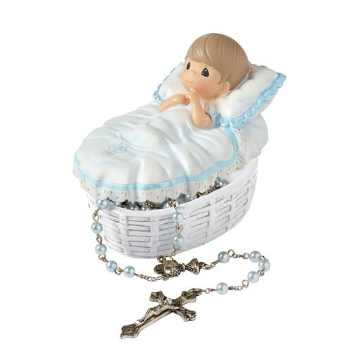 Precious Moments Baptism Rosary Set for Boys