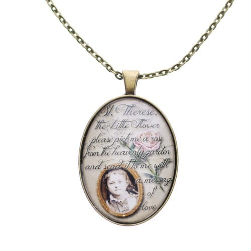 Personalized St. Therese Pendant