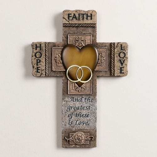 Faith Hope And Love Marriage Cross 105 Inch The