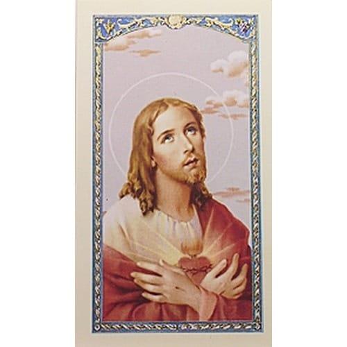 Sacred Heart Of Jesus In Appreciation Prayer Card