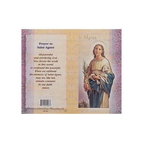 St Agnes Mini Lives Of The Saints Folded Prayer Card