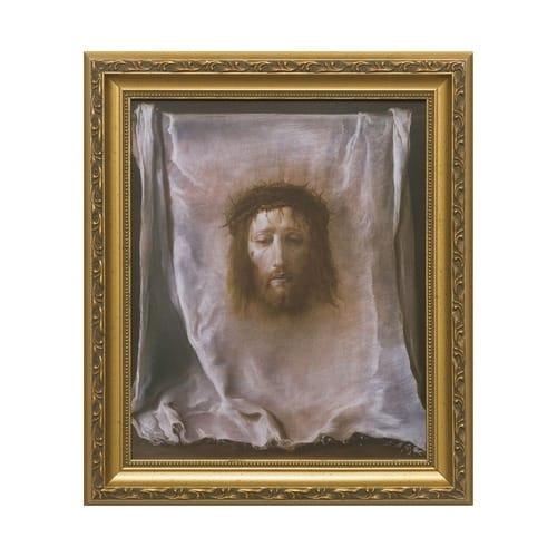 Veronicas Veil W Gold Frame The Catholic Company