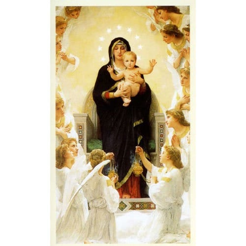 Virgin With Angels Mary Queen Of Angels Personalized