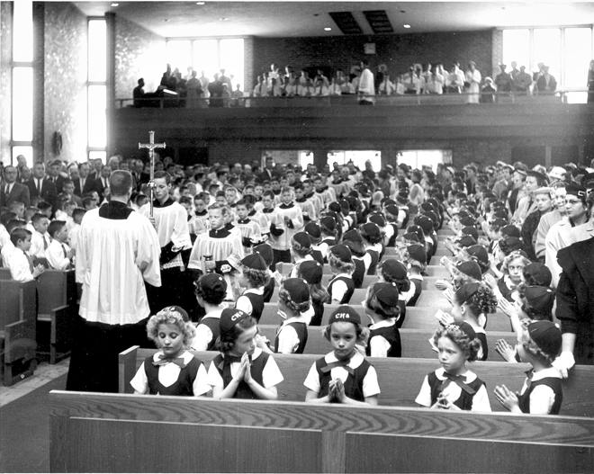 Catholic School Kid's Mass