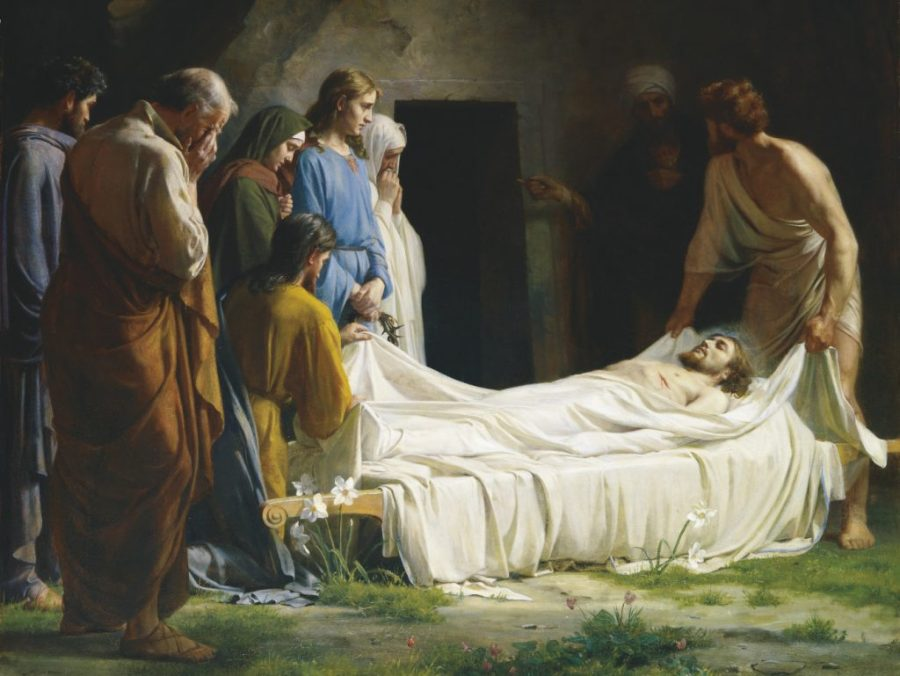 Jesus is Laid in the Tomb by Carl Bloch