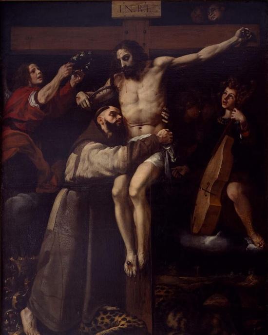 St. Francis embracing Christ by Francesco Ribalta